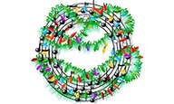 Wreath with musical notes