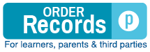 Order Records for learners, parents and third parties