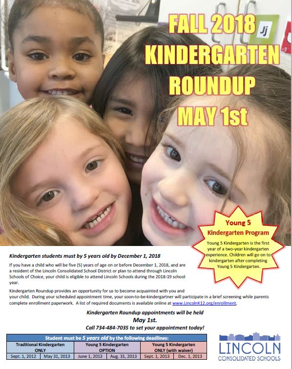 Kindergarten Roundup May 1st