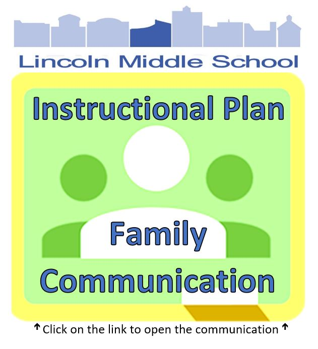 Image to click to open letter to families regarding Instructional Plan for Lincoln Middle School