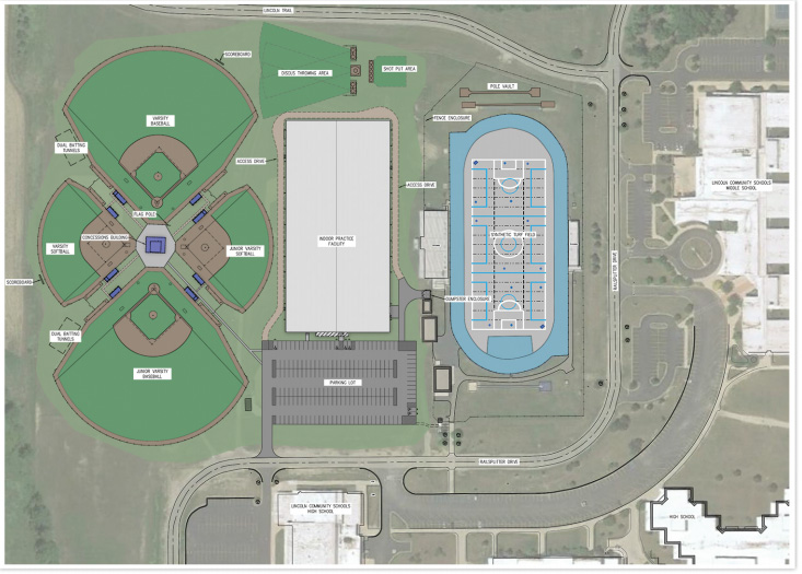 Sports Complex Rendering