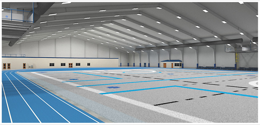 Sports Facility Interior Rendering